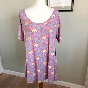 NWT LULAROE • perfect t size xl floral purple back